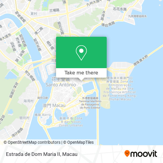 Estrada de Dom Maria II map