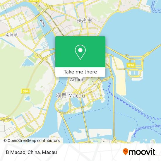 B Macao, China map