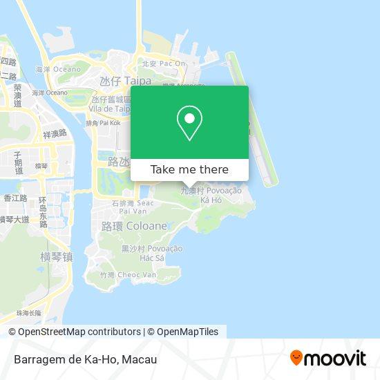 Barragem de Ka-Ho map