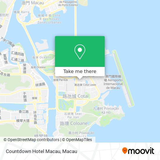 Countdown Hotel Macau map