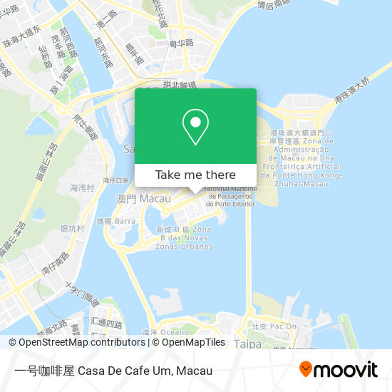 一号咖啡屋 Casa De Cafe Um map
