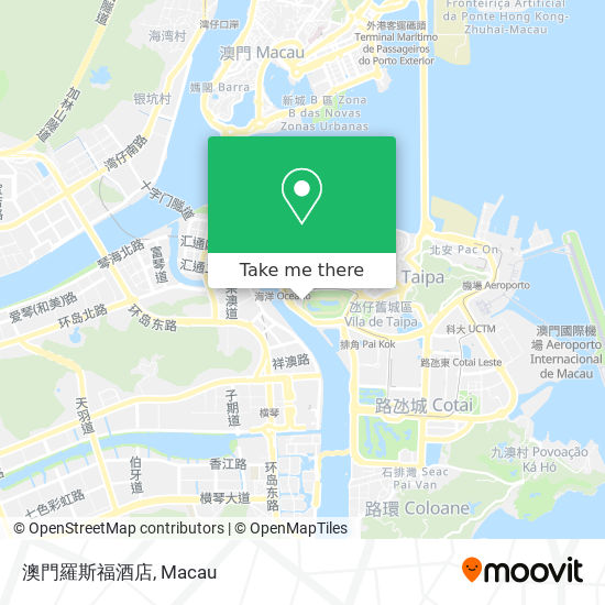 澳門羅斯福酒店 map