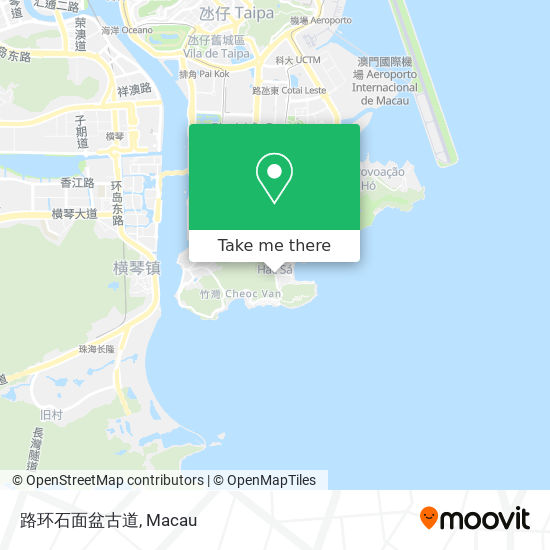 路环石面盆古道 map