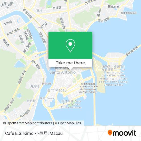Café E.S. Kimo 小泉居 map