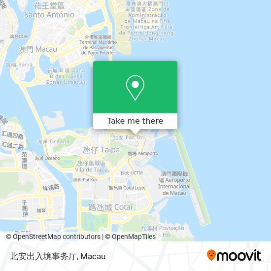北安出入境事务厅 map