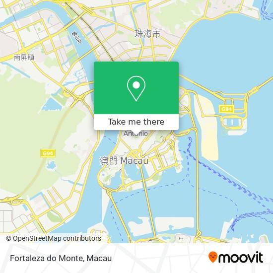 Fortaleza do Monte map