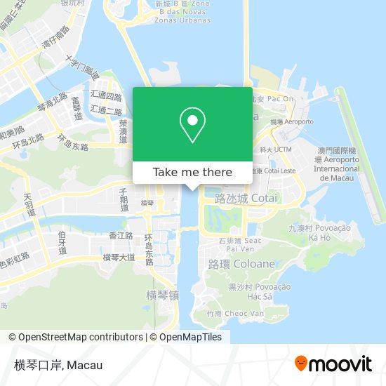 横琴口岸 map