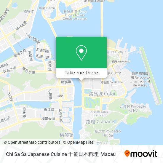 Chi Sa Sa Japanese Cuisine 千笹日本料理 map