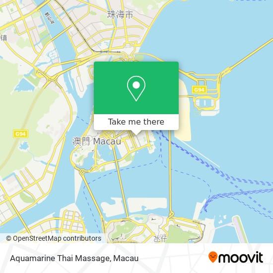 Aquamarine Thai Massage map