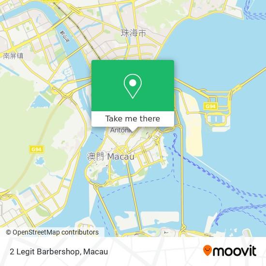 2 Legit Barbershop map