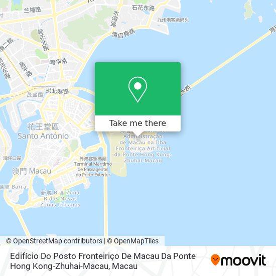 Edifício Do Posto Fronteiriço De Macau Da Ponte Hong Kong-Zhuhai-Macau map