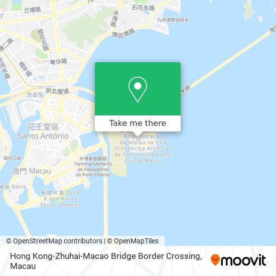 Hong Kong-Zhuhai-Macao Bridge Border Crossing map