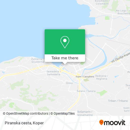 Piranska cesta map
