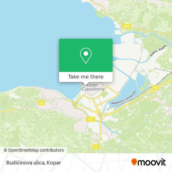 Budičinova ulica map