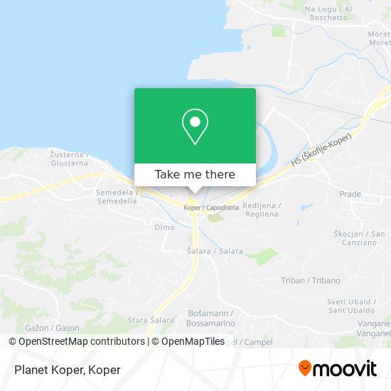 Planet Koper map