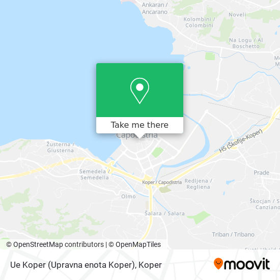 Ue Koper (Upravna enota Koper) map