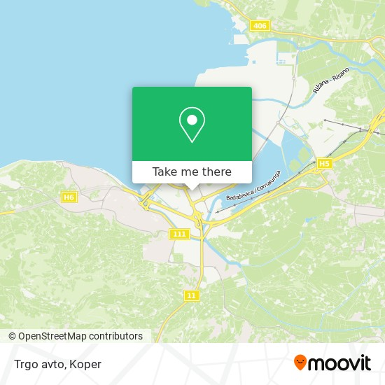 Trgo avto map
