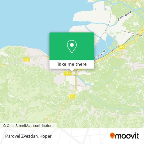 Parovel Zvezdan map