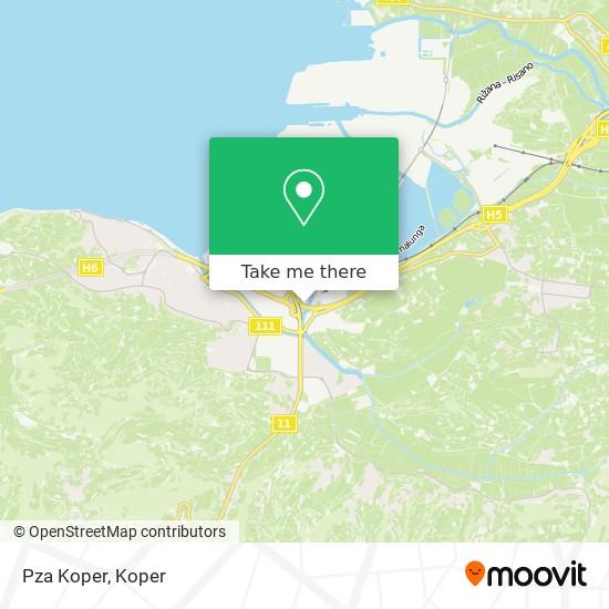 Pza Koper map