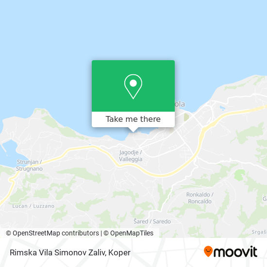 Rimska Vila Simonov Zaliv map