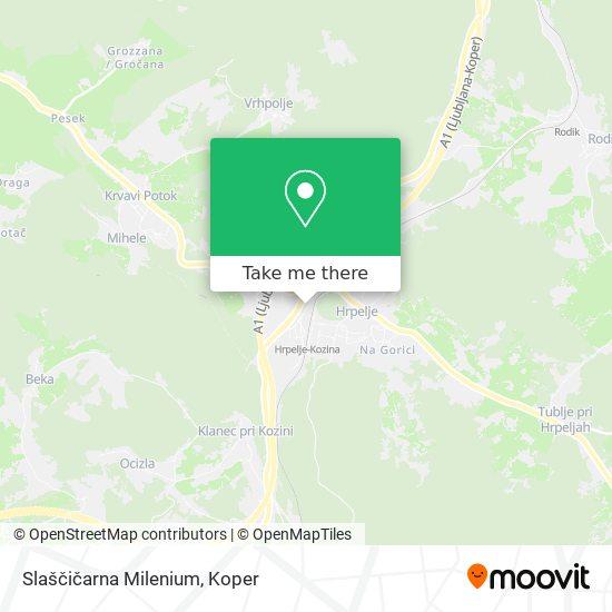 Slaščičarna Milenium map