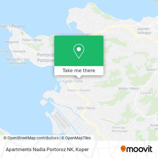 Apartments Nadia Portoroz NK map