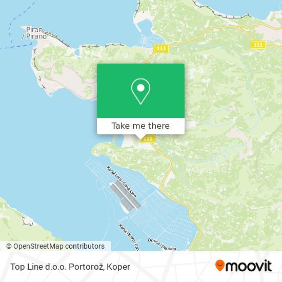 Top Line d.o.o. Portorož map