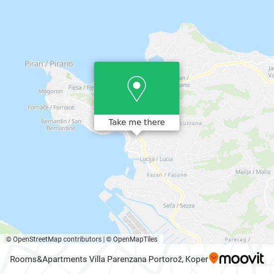 Rooms&Apartments Villa Parenzana Portorož map