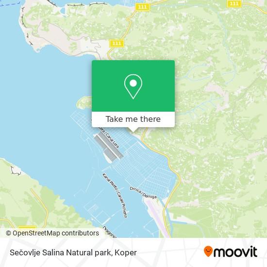 Sečovlje Salina Natural park map