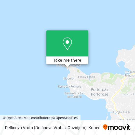 Delfinova Vrata (Dolfinova Vrata z Obzidjem) map