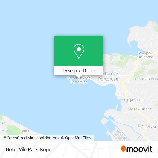 Hotel Vile Park map