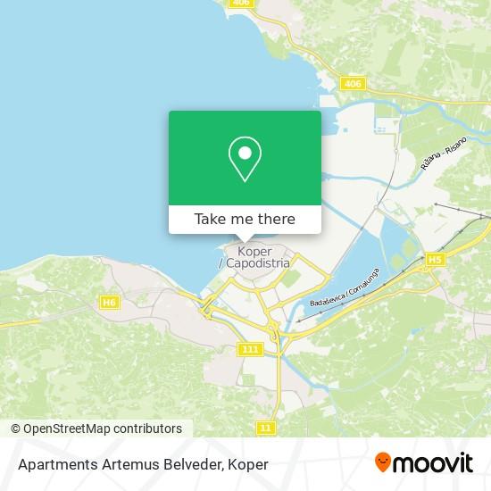 Apartments Artemus Belveder map