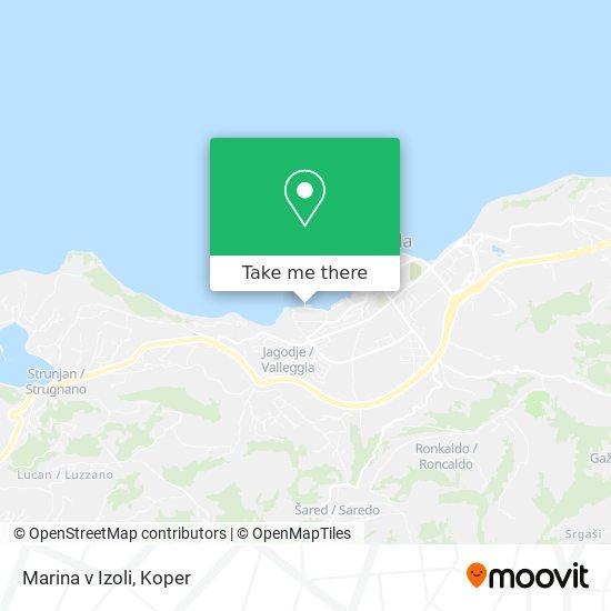Marina v Izoli map