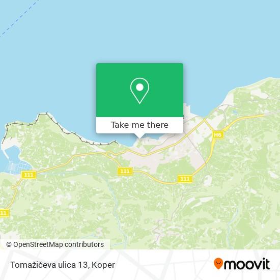 Tomažičeva ulica 13 map
