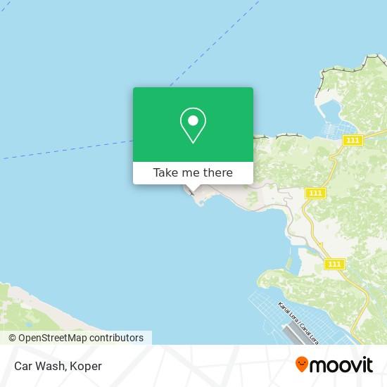 Car Wash map