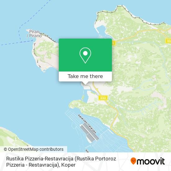 Rustika Pizzeria-Restavracija map