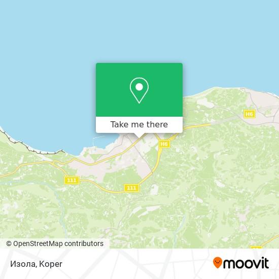 Изола map