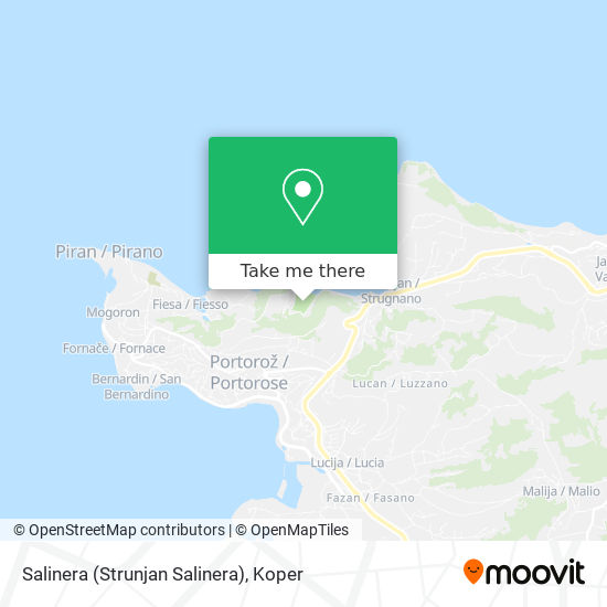 Salinera (Strunjan Salinera) map