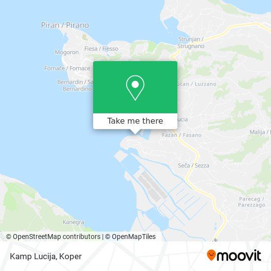 Kamp Lucija map