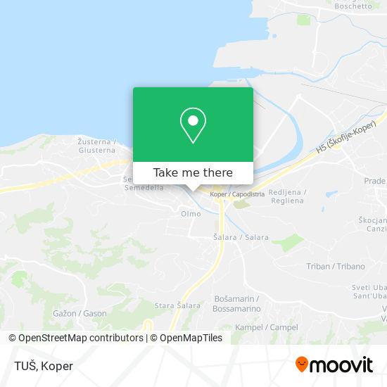 TUŠ map