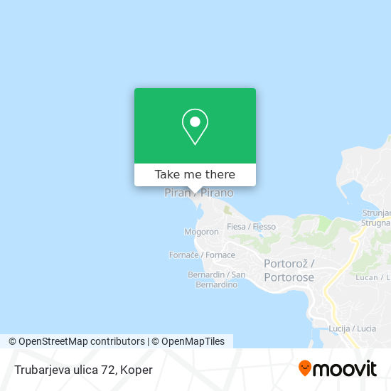 Trubarjeva ulica 72 map