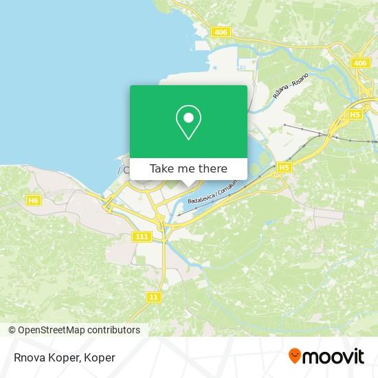 Rnova Koper map