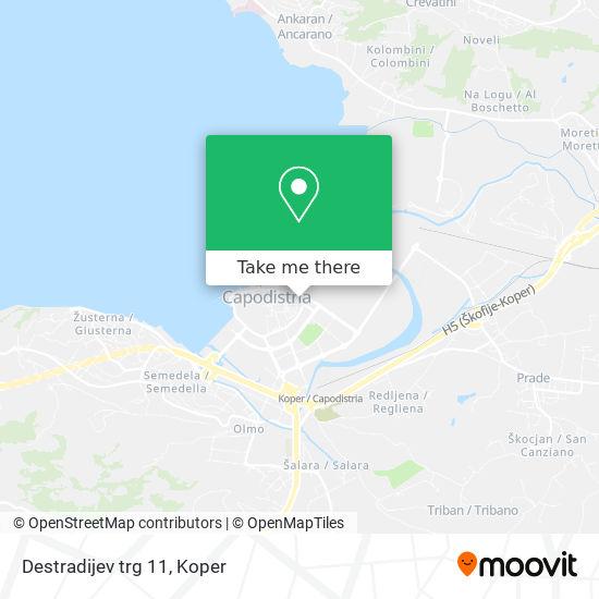 Destradijev trg 11 map