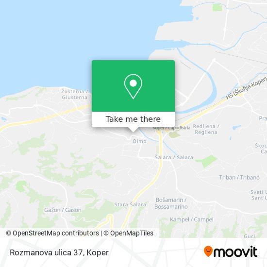 Rozmanova ulica 37 map