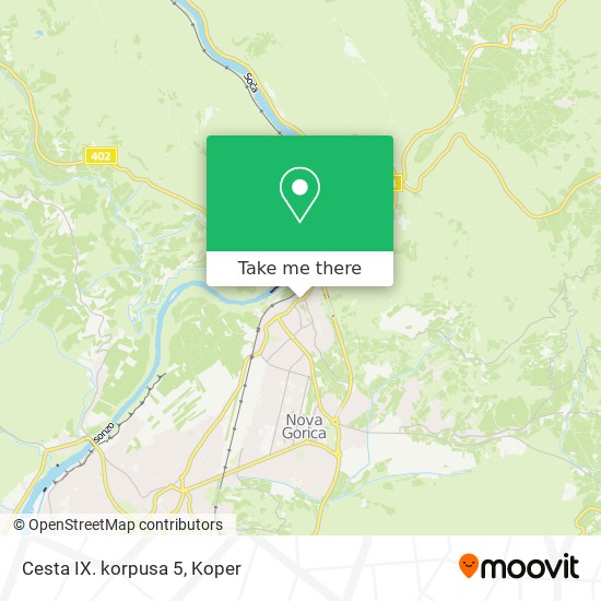 Cesta IX. korpusa 5 map