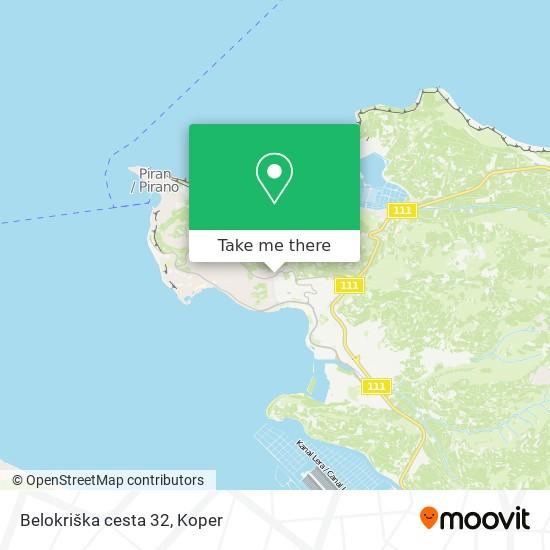 Belokriška cesta 32 map