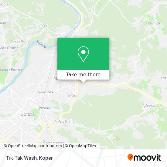 Tik-Tak Wash map