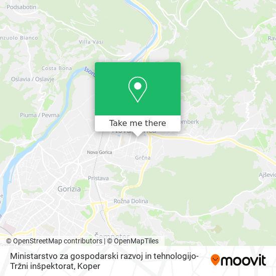 Ministarstvo za gospodarski razvoj in tehnologijo-Tržni inšpektorat map