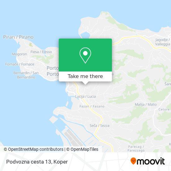Podvozna cesta 13 map