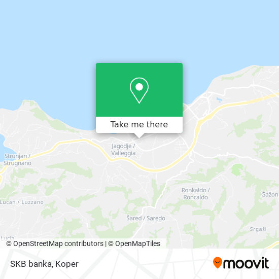 SKB banka map